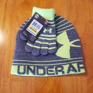 Under Armour Boy's Hat and Glove Set
